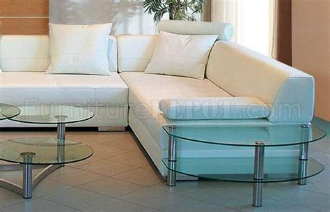 white bonded leather sofa 3334 sectional sofa in white bonded leather by vig
