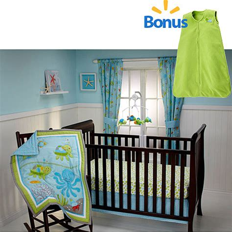 little bedding by nojo little bedding by nojo ocean dreams 4 piece crib bedding set w bonus wearable blanket