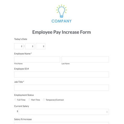 Average Salary Increase Form Mba Liftime by Sle Employee Form Free Sle Employement Application