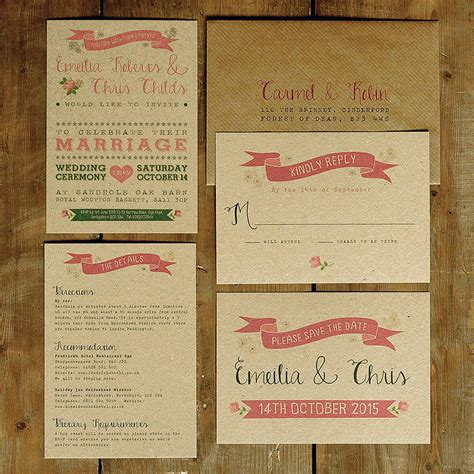 vintage wedding invitations vintage country kraft wedding invitation by feel