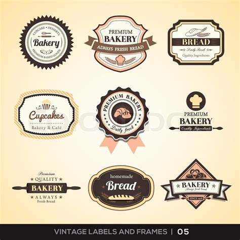 Logo Etiketten by Vintage Bakery Logo Labels And Frames Stock Vector