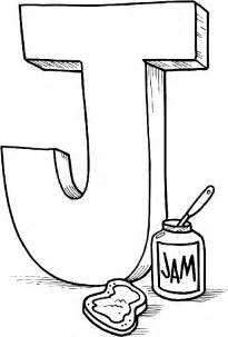 letter j coloring page free alphabet coloring pages