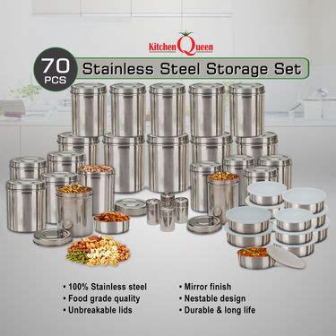 Buy Kitchen Queen 70 Pcs Stainless Steel Storage Set
