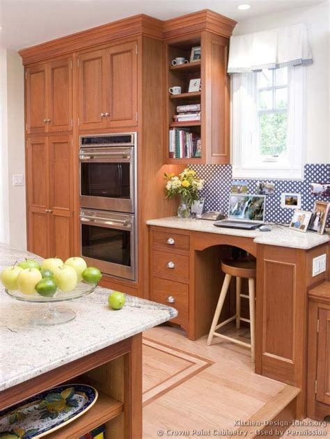 desk in kitchen design ideas pictures of kitchens traditional light wood kitchen