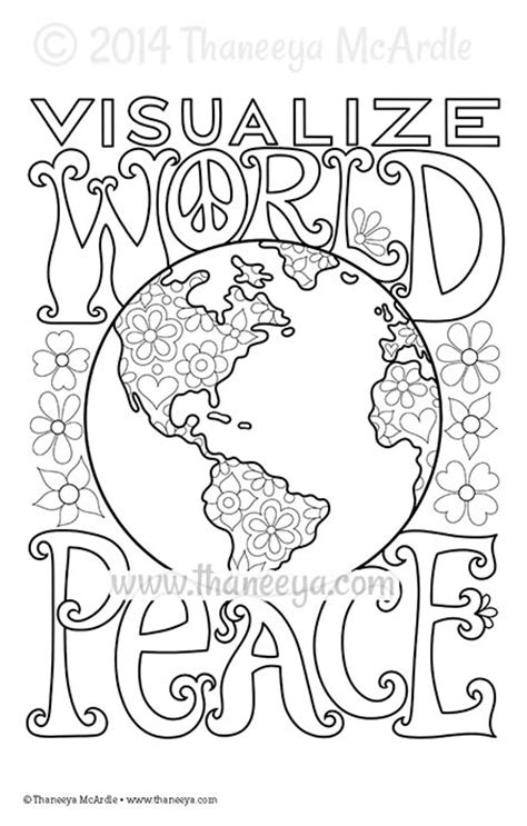 coloring pages of world peace color dreams coloring book by thaneeya mcardle thaneeya com