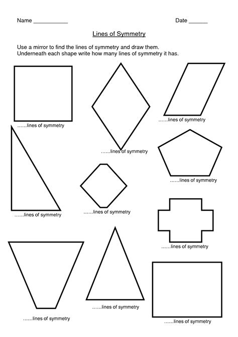 Lines Of Symmetry Worksheets by 14 Best Images Of Lines Of Symmetry Worksheets Line