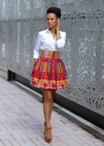 How fashion girls wear african prints mini skirts