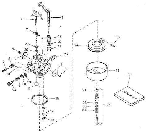 tecumseh carburetor parts diagram size