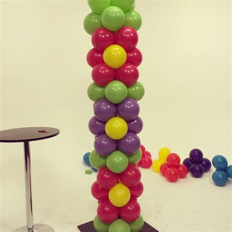 Balloon flower power tower diy tutorial youtube