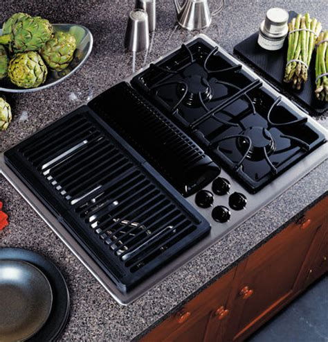 modular gas cooktop ge profile built in downdraft gas modular cooktop