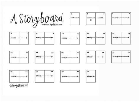 childrens book template a storyboard carolyn fisher