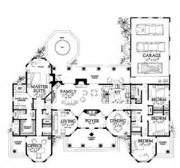 Mediterranean House Floor Plans by One Story Mediterranean Mediterranean Floor Plan