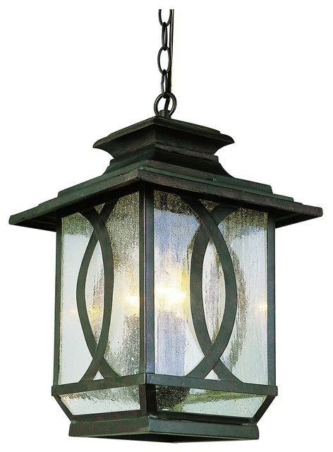 Trans Globe 5196 Brt Mission Ranch Rust Outdoor Hanging Outdoor Hanging Globe Lights