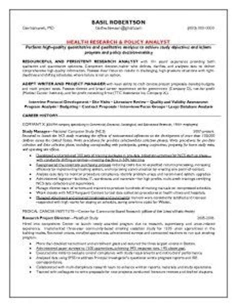 Health Policy Analyst Sle Resume by 1000 Images About Our Sle Resumes On Resume Executive Resume And Health
