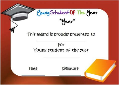 Student Of The Year Award Certificate Templates by Student Of The Year Award Certificate Templates 20 Free