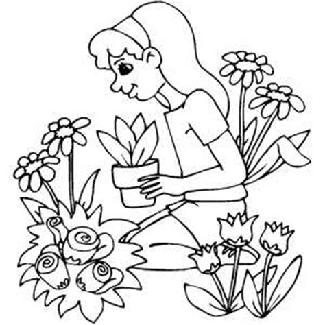 printable garden images man gardening coloring pages coloring pages