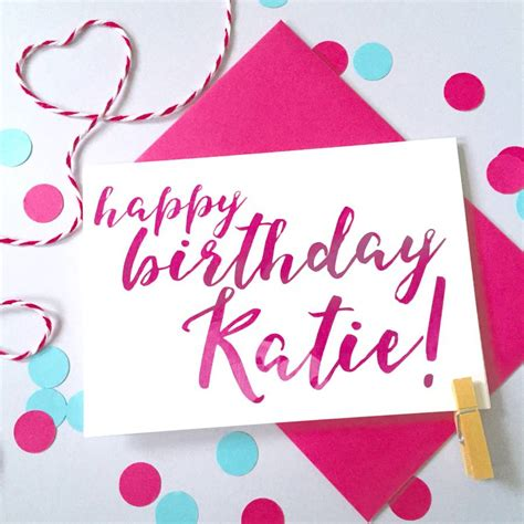Personalised Name Birthday Cards Personalised Name Calligraphy Birthday Card By Ruby Wren