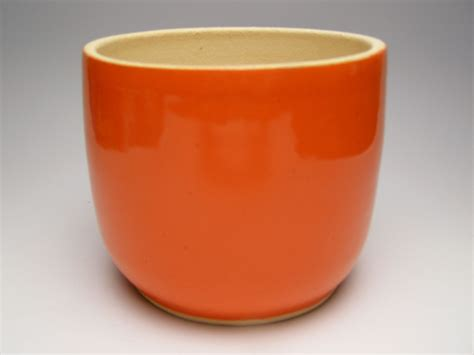 plant pot planter orange stoneware plant pot 6 x by