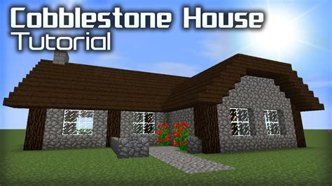 how to make a house in minecraft how to make a good cobblestone house in minecraft youtube