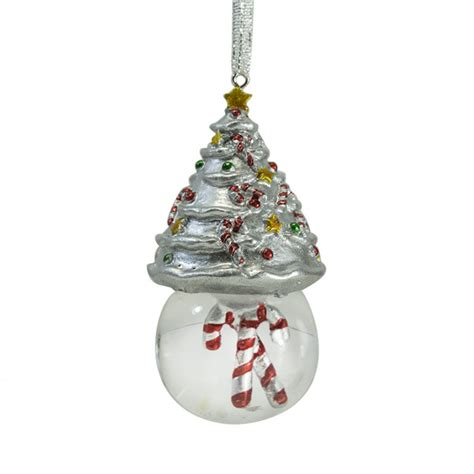 2014 mikasa christmas tree snowglobe christmas ornament