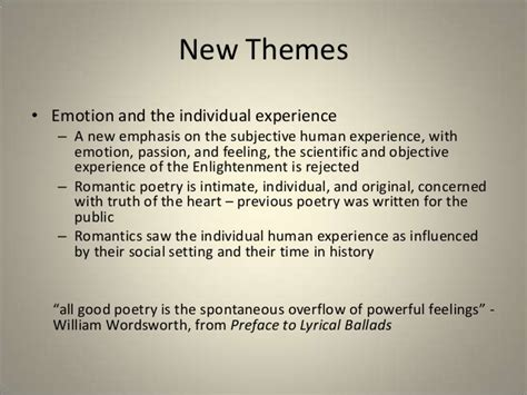 themes of enlightenment literature the romantic period