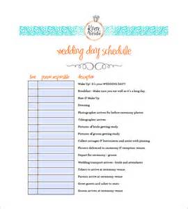 wedding agenda template 9 wedding agenda templates free sle exle format