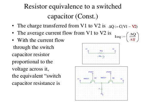 switched capacitor the switched capacitor 28 images filters and tuned lifiers ppt switched capacitor the
