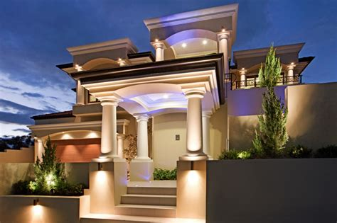 home exterior design with pillars mediterranean style house build with james hardi columns