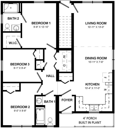 mulberry floor plan mulberry modular home floor plan bungalows home designs