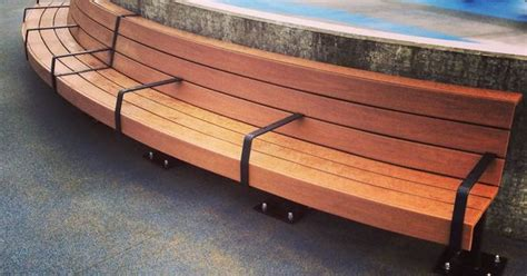 azek bench azek morado curved benches with several modified heat bent