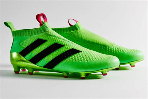 introducing the ace 16 adidas new boots come in martian green and don t any laces