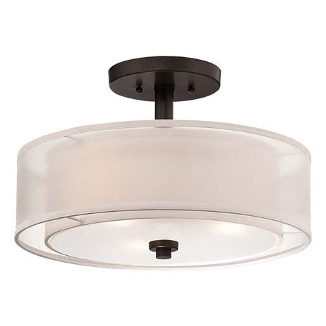 Minka Smoked Iron Parsons Studio Semi Flushmount Ceiling Iron Ceiling Light