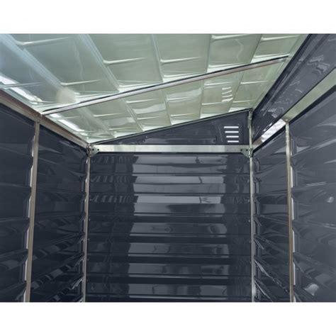 palram  lean  skylight storage shed kit gray hgt