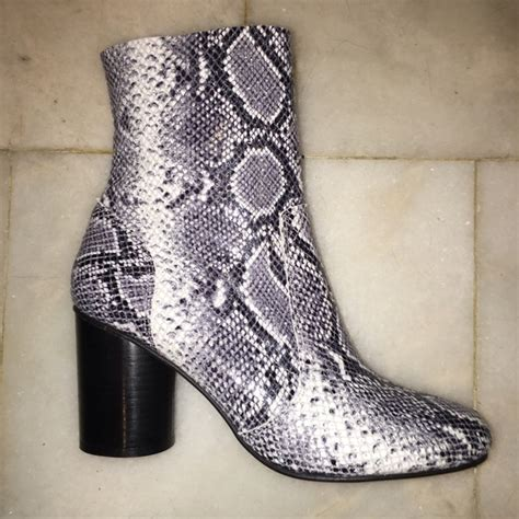 29 office shoes black and white snakeskin boots