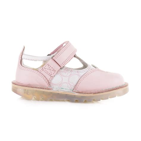 kickers toddler sandals kickers infant kick t leather pink t bar