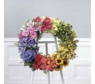 Sprei Rainbow Colour Nj 7 best wicker coffin floral arrangements images on