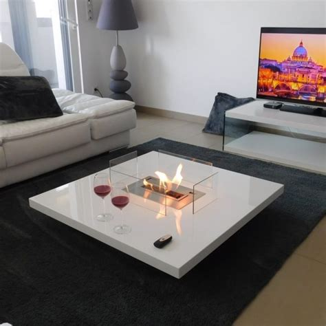 coffee table fireplace with remote ethanol burner insert lou