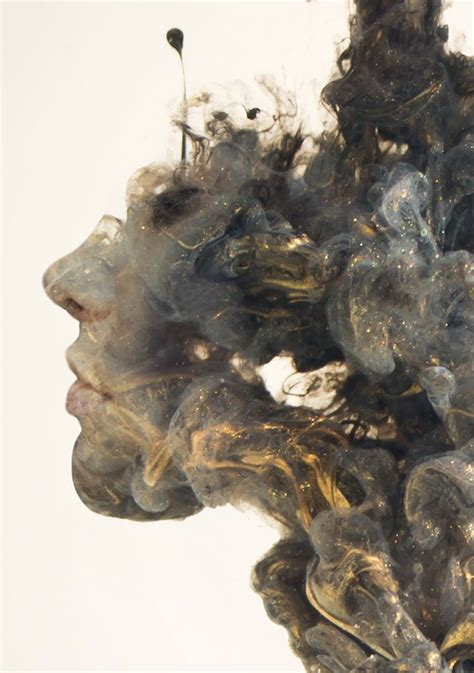 Slabber 3d surreal exposures of faces blended into plumes of