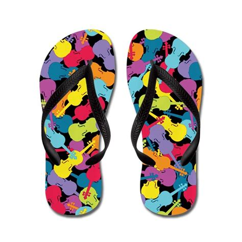 colorful flip flops colorful violins flip flops by zenguin