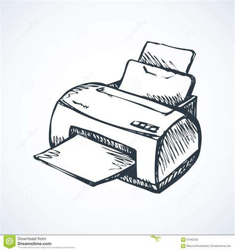 Toner White ink jet printer isometric view royalty free stock image