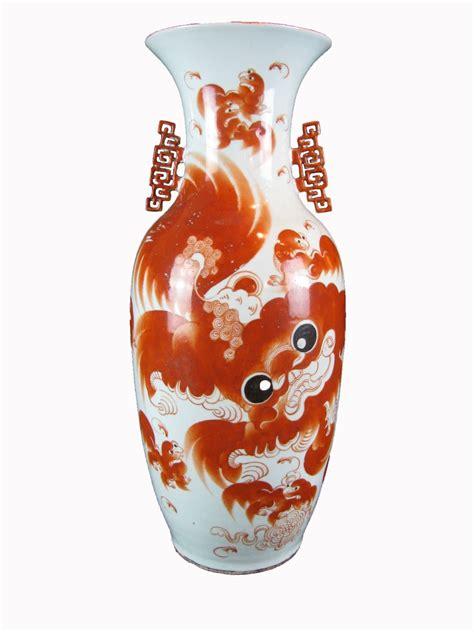 vasi antichi cinesi grande vaso cinese antico in porcellana decorata in rosso