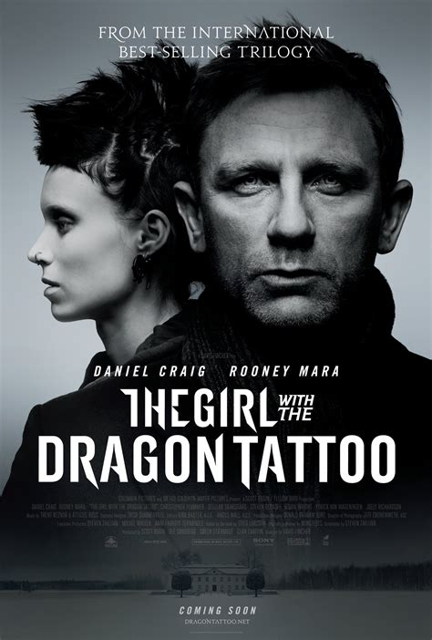 the girl with the dragon tattoo book review the with the poster