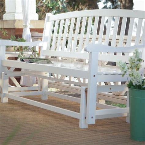 outdoor glider bench white acacia wood glider bench outdoor patio garden furniture in