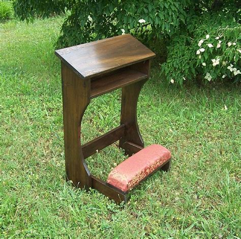 buy a custom made reclaimed wood folding prayer kneeler or