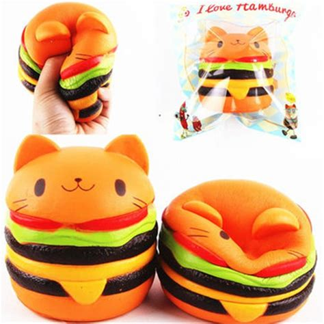 Rise Cat And Pinquin Squishy colormix jumbo squishy cat burger rising soft animal collection gift decor original