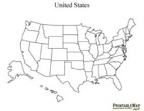 print united states of america map