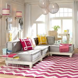Cushy lounge super sectional set amp base by pb teen stylish lounging