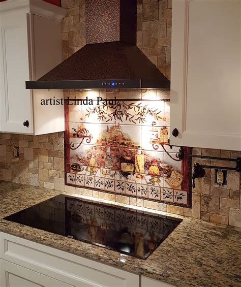 kitchen wall mural ideas tile backsplash kitchen tiles murals ideas