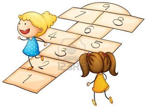dibujos de niños jugando rayuela trabajando juntas para los ni 241 os