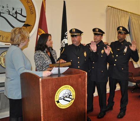 anthony daniels nj union police promotions announced union nj news tapinto